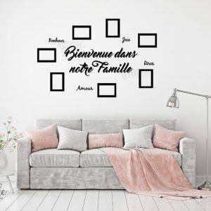 """Sticker """"Bienvenue dans notre famille"""""""
