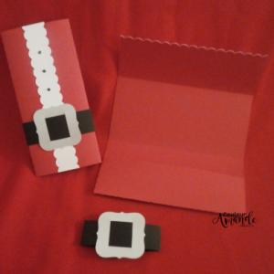 "carte ""portefeuille"" Père Noël"