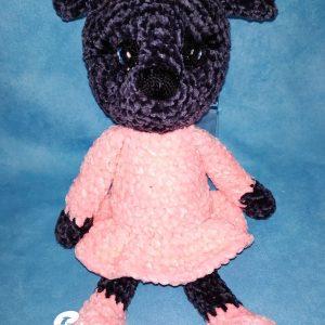 Peluche ours rose et noir